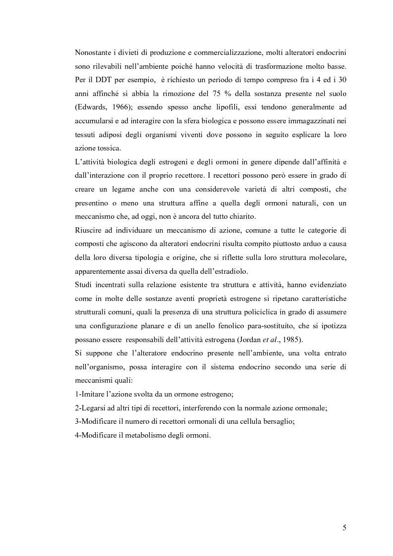 Anteprima della tesi: Interazione tra un alteratore endocrino riconosciuto, il nonilfenolo, e la comunità microbica di un refluo urbano., Pagina 5