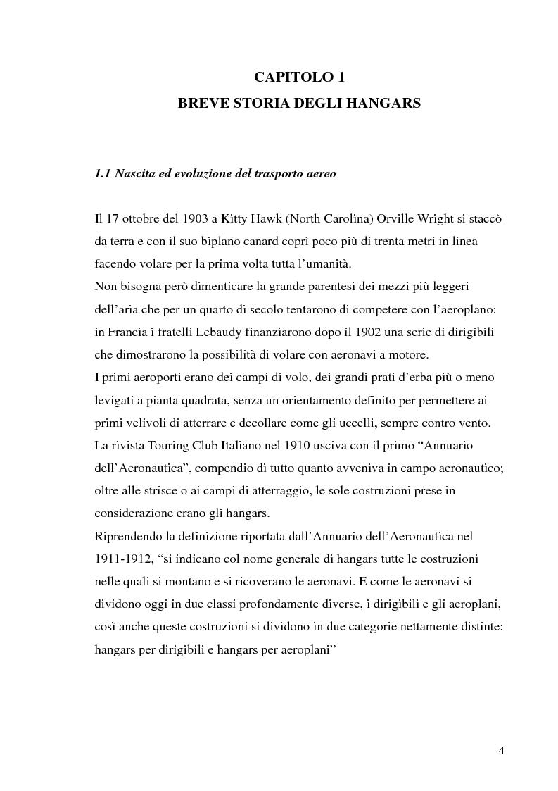 Anteprima della tesi: Hangar prefabbricato per il Boeing 737-300. Problematiche del trasporto e del montaggio, Pagina 4