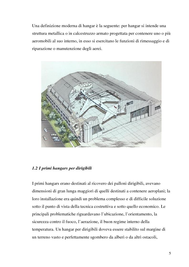 Anteprima della tesi: Hangar prefabbricato per il Boeing 737-300. Problematiche del trasporto e del montaggio, Pagina 5