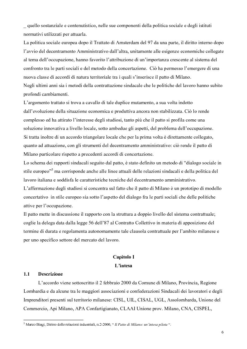Anteprima della tesi: Il patto per il lavoro di Milano, Pagina 2