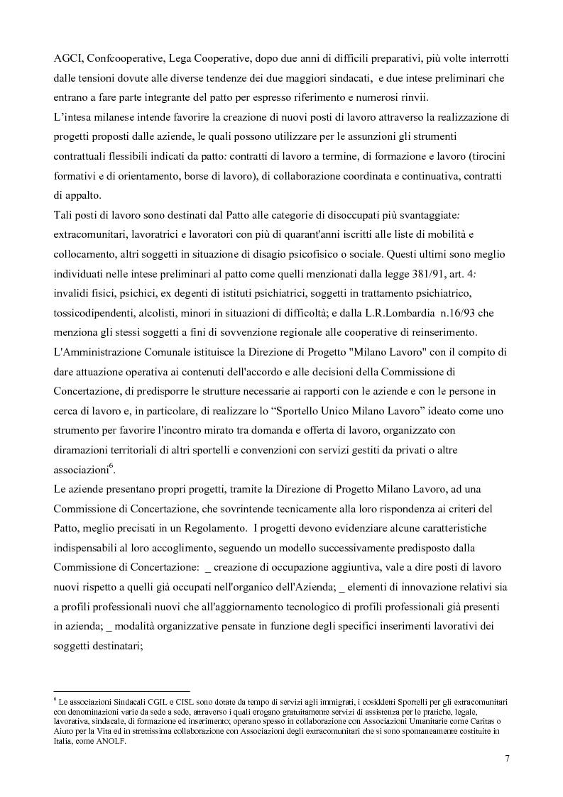 Anteprima della tesi: Il patto per il lavoro di Milano, Pagina 3