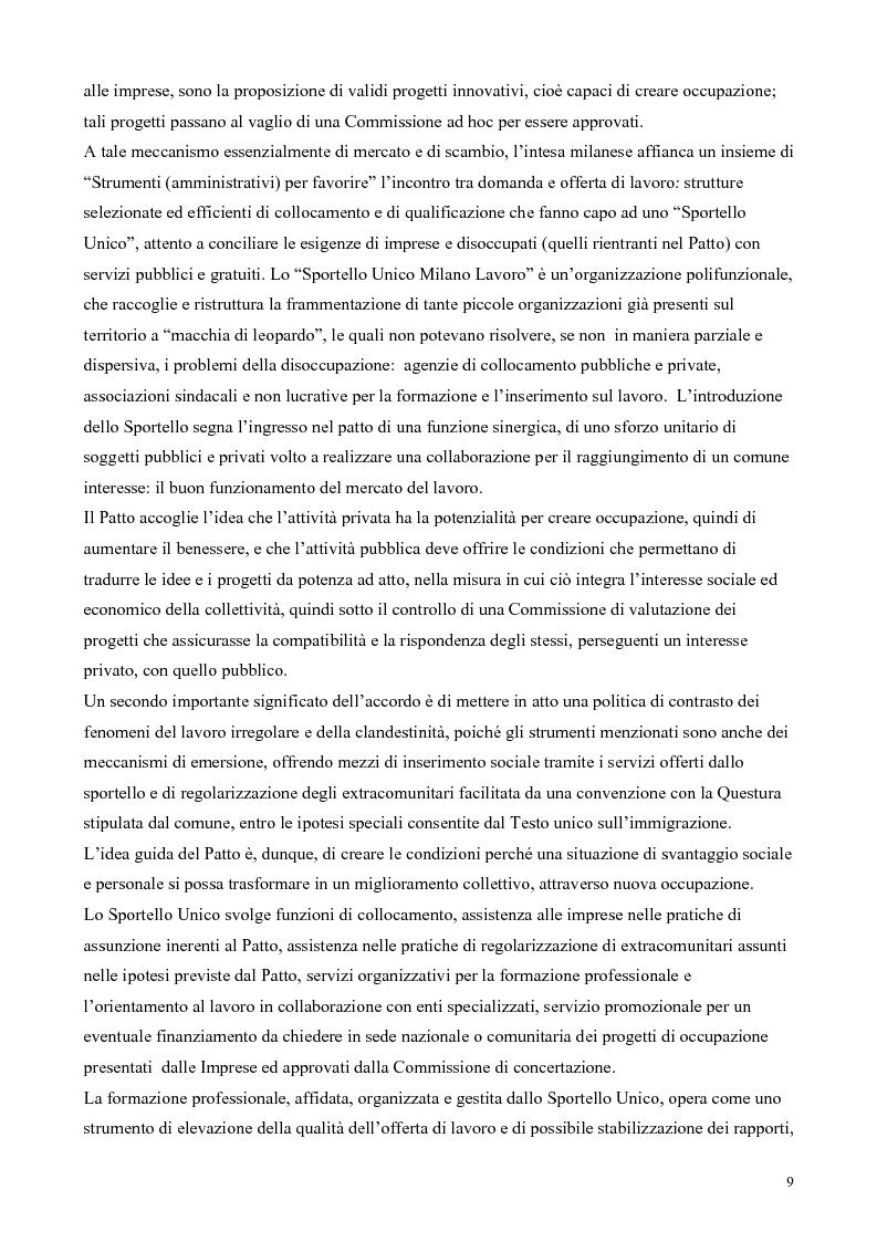 Anteprima della tesi: Il patto per il lavoro di Milano, Pagina 5