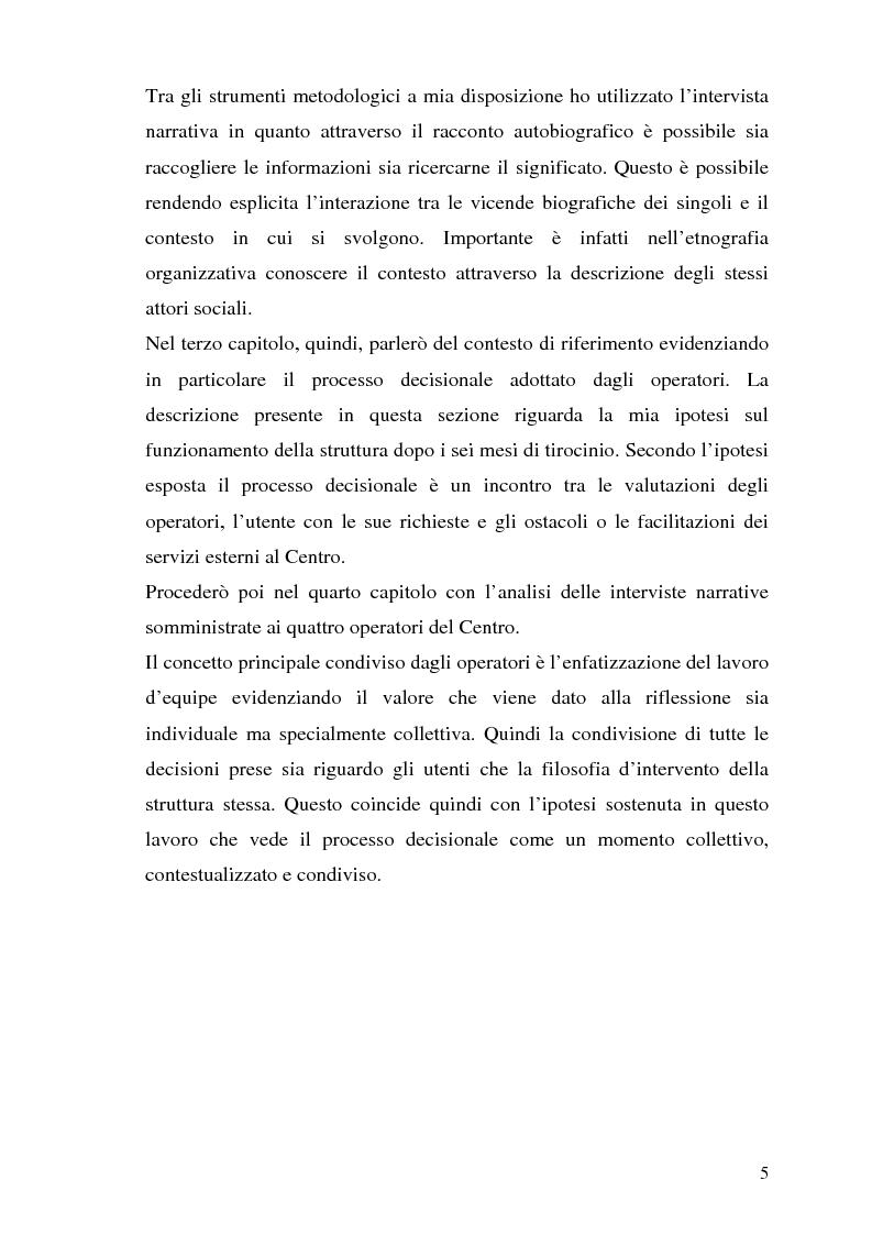 Anteprima della tesi: Etnografia organizzativa: analisi del processo decisionale in un servizio pubblico., Pagina 2