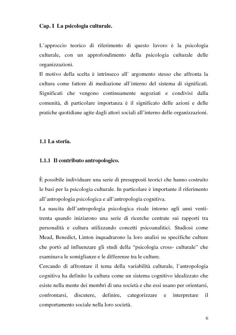 Anteprima della tesi: Etnografia organizzativa: analisi del processo decisionale in un servizio pubblico., Pagina 3