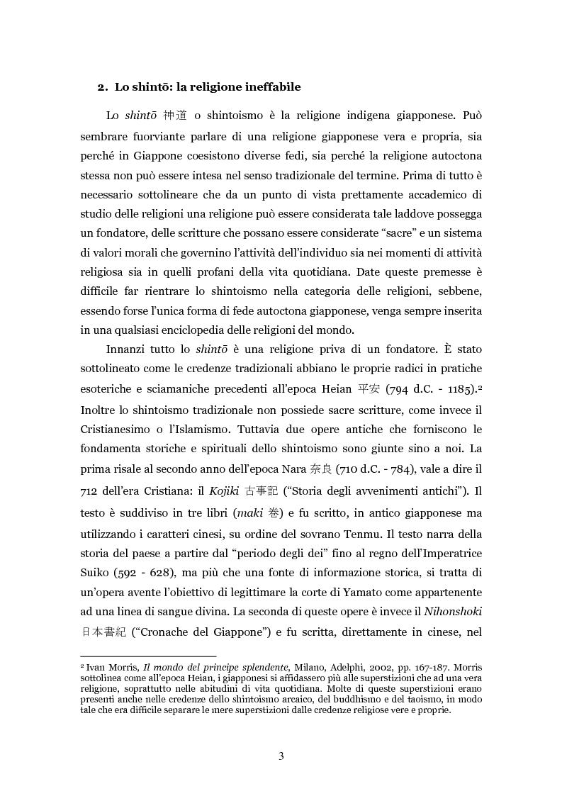Anteprima della tesi: Lo shintoismo ieri e oggi, Pagina 3