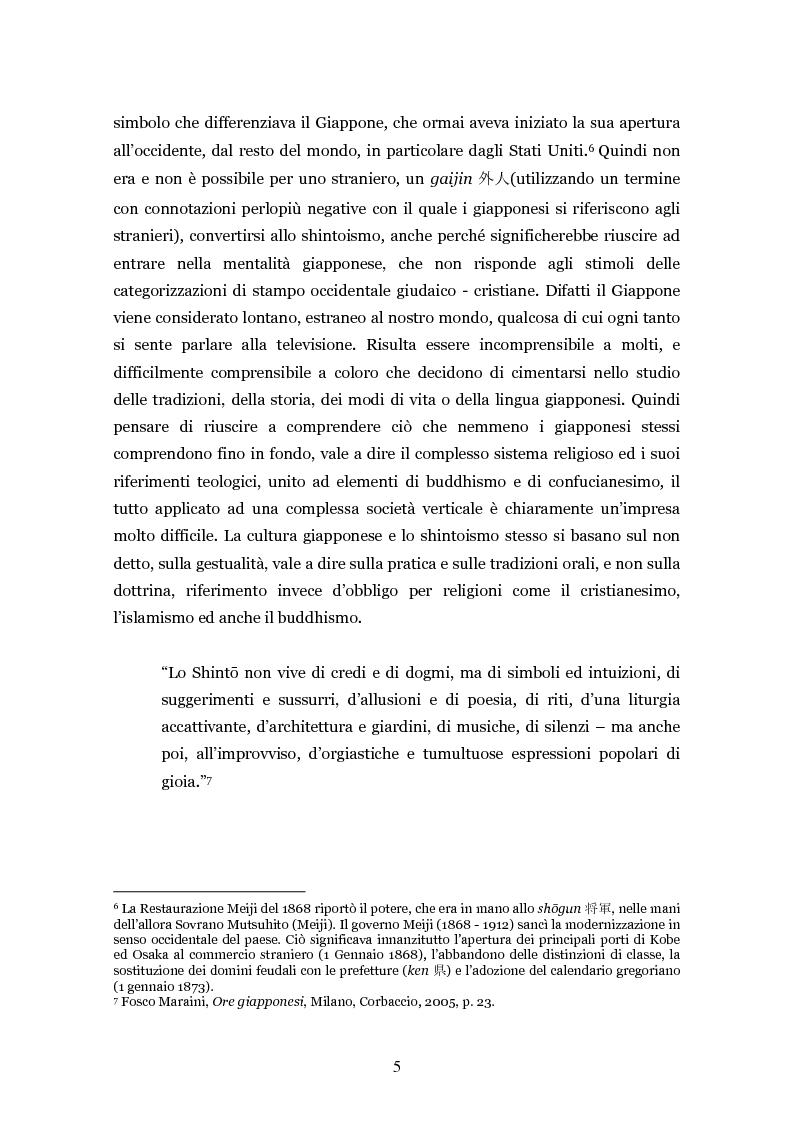 Anteprima della tesi: Lo shintoismo ieri e oggi, Pagina 5