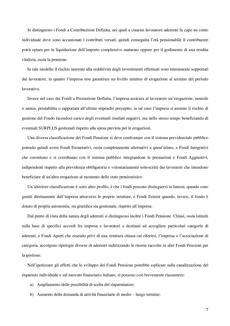 Anteprima della tesi: Gli Intermediari Finanziari: La Banca, Pagina 7