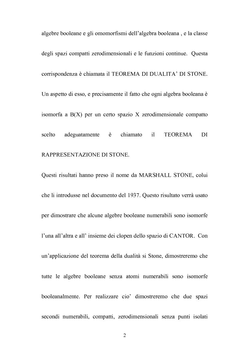 Anteprima della tesi: Le algebre booleane, Pagina 2