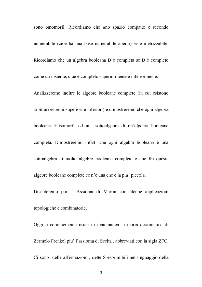 Anteprima della tesi: Le algebre booleane, Pagina 3