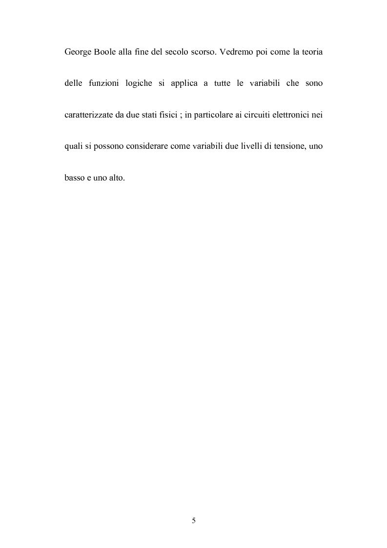 Anteprima della tesi: Le algebre booleane, Pagina 5
