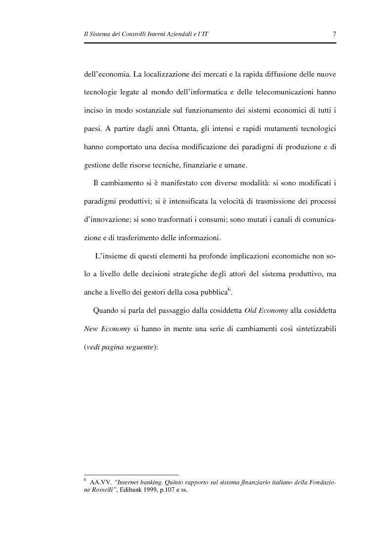 Anteprima della tesi: Il Sistema dei Controlli Interni Aziendali e l'IT, Pagina 3