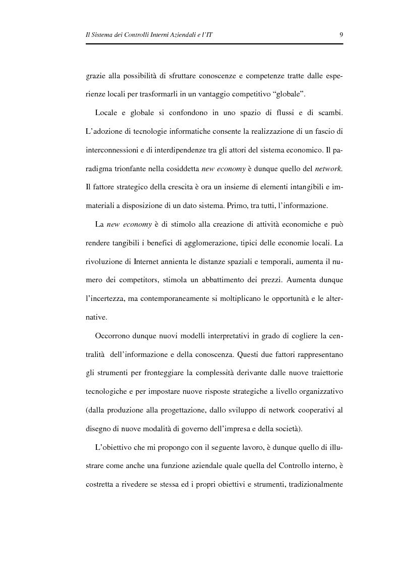 Anteprima della tesi: Il Sistema dei Controlli Interni Aziendali e l'IT, Pagina 5