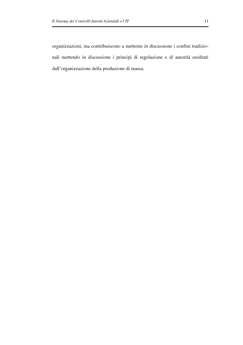 Anteprima della tesi: Il Sistema dei Controlli Interni Aziendali e l'IT, Pagina 7