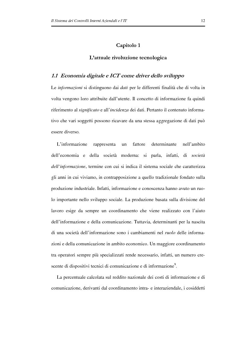 Anteprima della tesi: Il Sistema dei Controlli Interni Aziendali e l'IT, Pagina 8