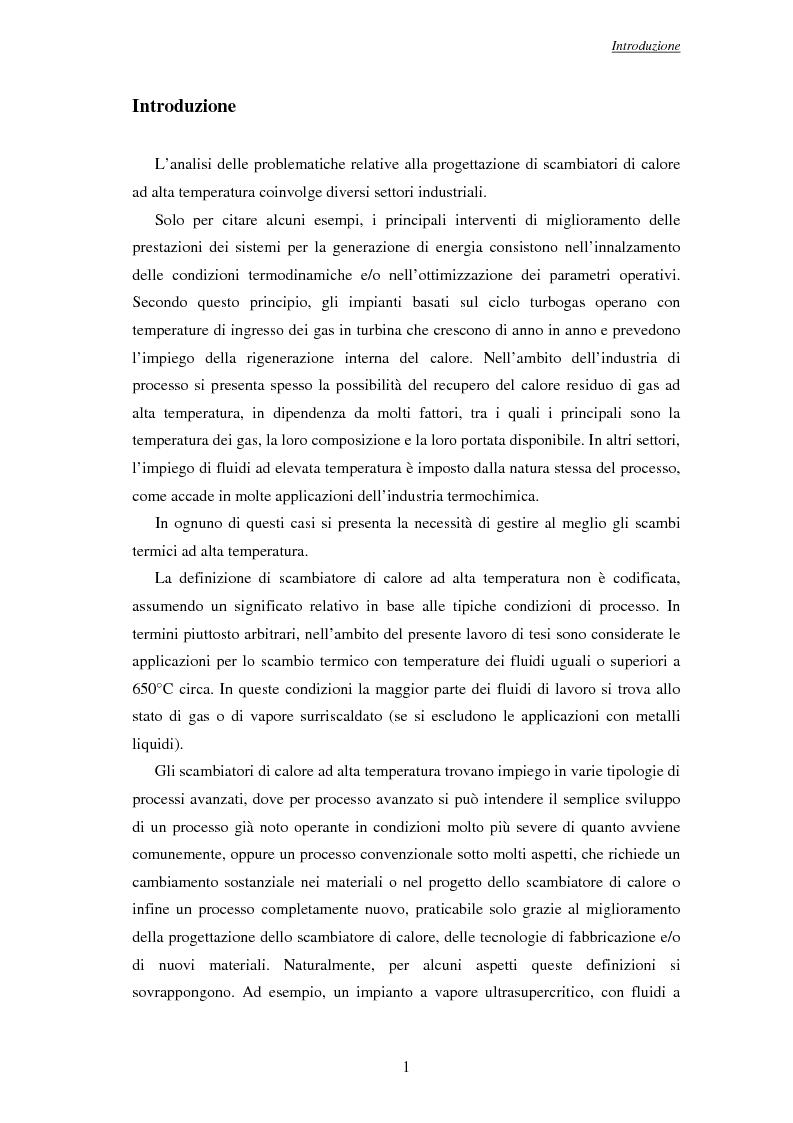 Anteprima della tesi: Modelli per l'analisi di scambiatori di calore ad alta temperatura, Pagina 2
