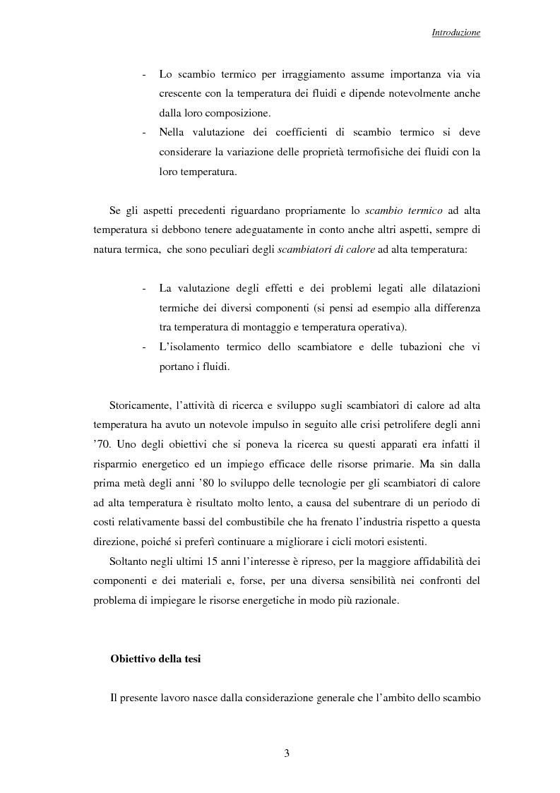 Anteprima della tesi: Modelli per l'analisi di scambiatori di calore ad alta temperatura, Pagina 4