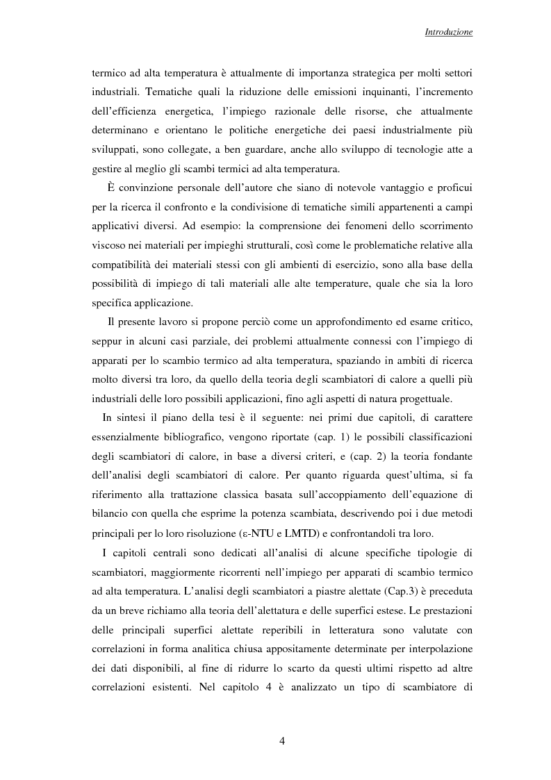 Anteprima della tesi: Modelli per l'analisi di scambiatori di calore ad alta temperatura, Pagina 5