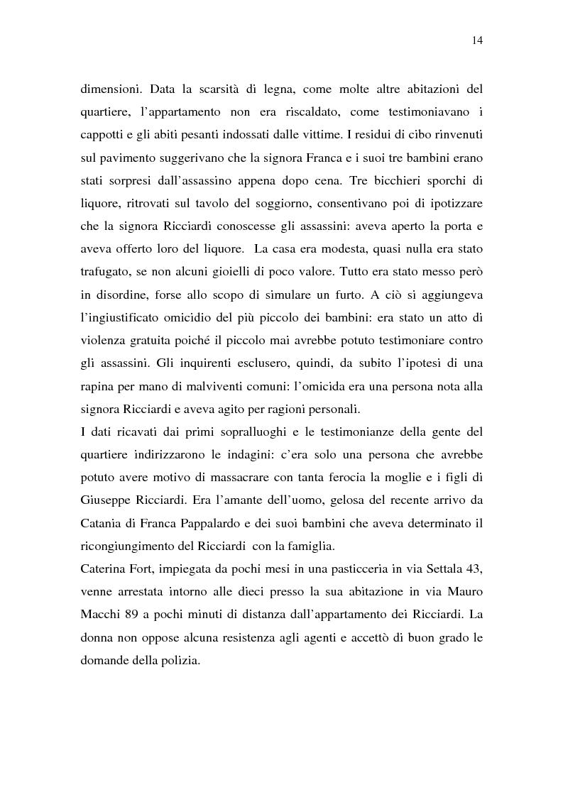 Anteprima della tesi: Rina Fort e il massacro di via san Gregorio: donne e violenza nell'Italia del dopoguerra, Pagina 10