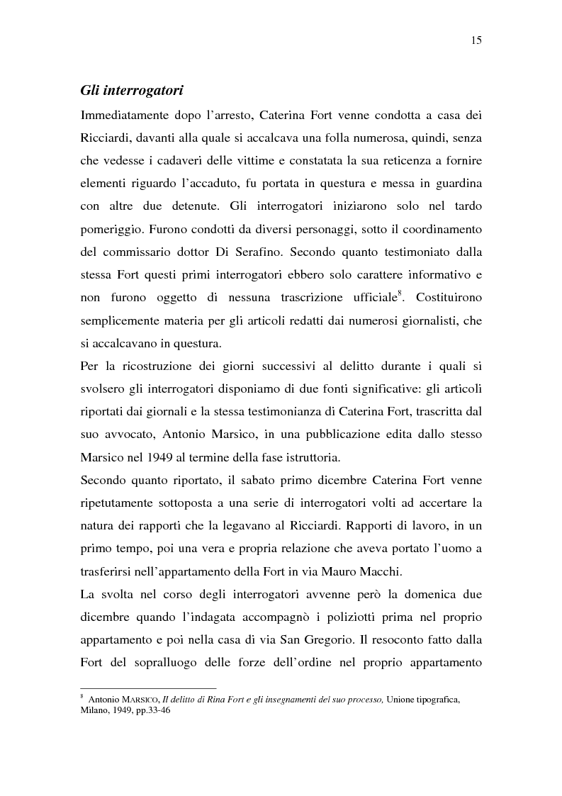 Anteprima della tesi: Rina Fort e il massacro di via san Gregorio: donne e violenza nell'Italia del dopoguerra, Pagina 11