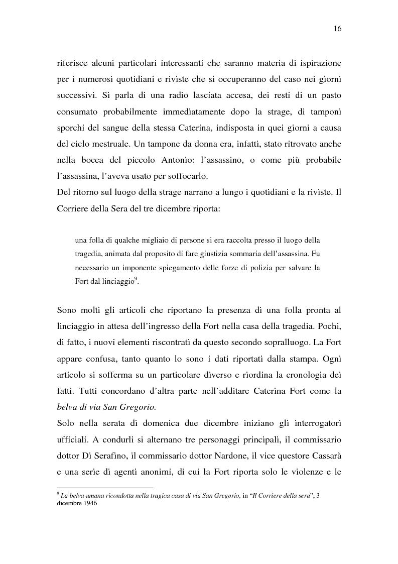 Anteprima della tesi: Rina Fort e il massacro di via san Gregorio: donne e violenza nell'Italia del dopoguerra, Pagina 12