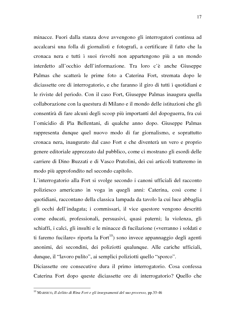 Anteprima della tesi: Rina Fort e il massacro di via san Gregorio: donne e violenza nell'Italia del dopoguerra, Pagina 13