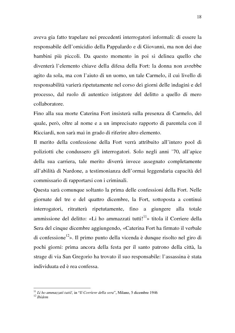 Anteprima della tesi: Rina Fort e il massacro di via san Gregorio: donne e violenza nell'Italia del dopoguerra, Pagina 14
