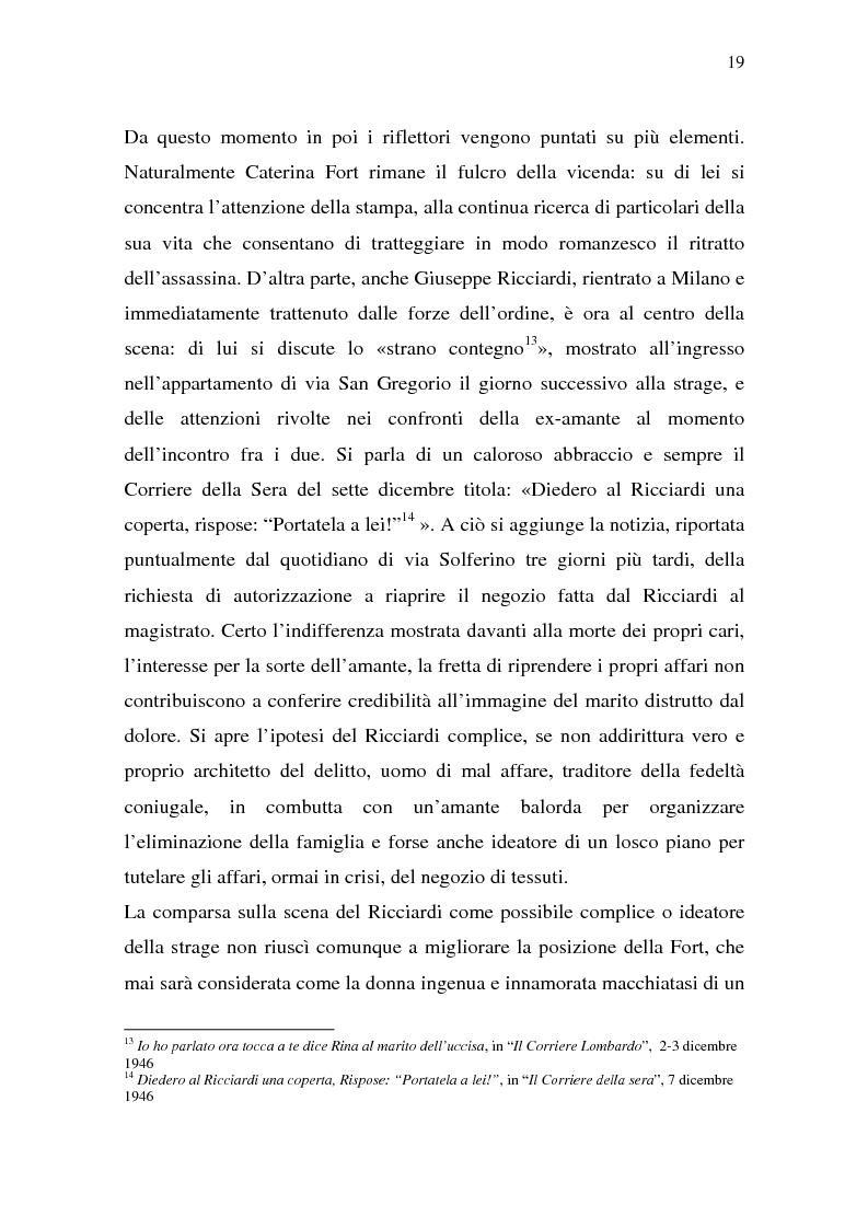 Anteprima della tesi: Rina Fort e il massacro di via san Gregorio: donne e violenza nell'Italia del dopoguerra, Pagina 15