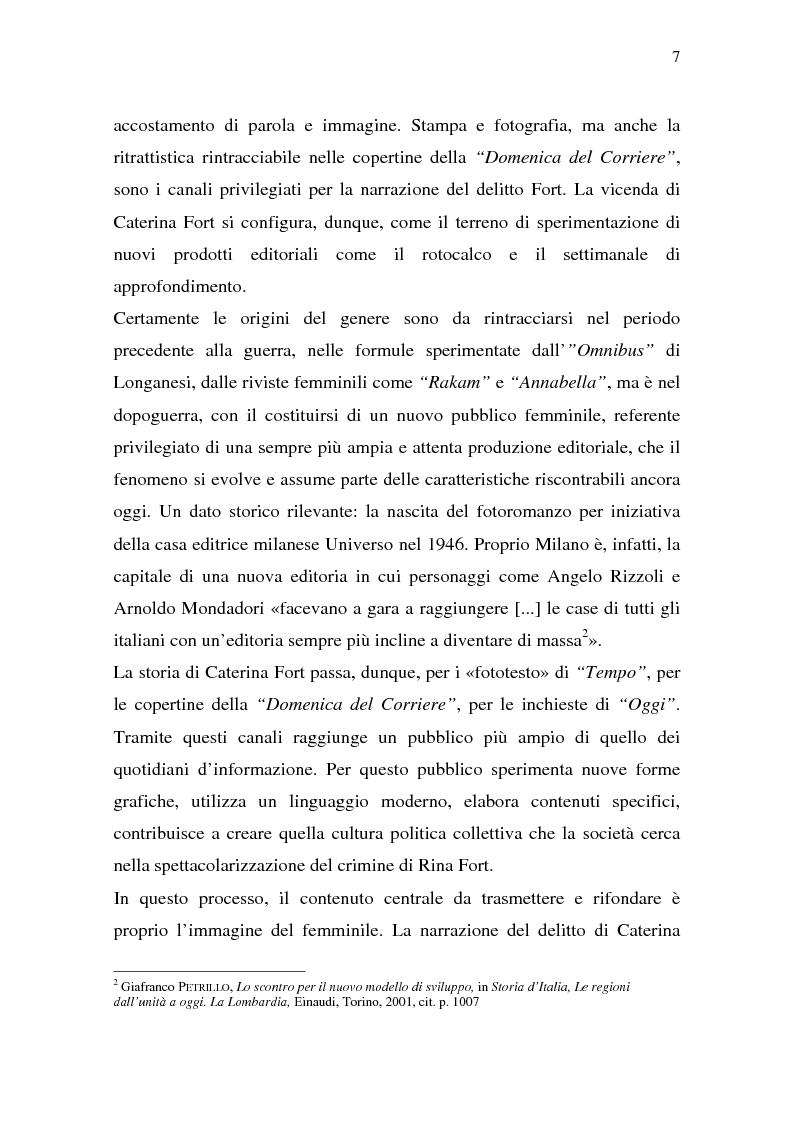 Anteprima della tesi: Rina Fort e il massacro di via san Gregorio: donne e violenza nell'Italia del dopoguerra, Pagina 3
