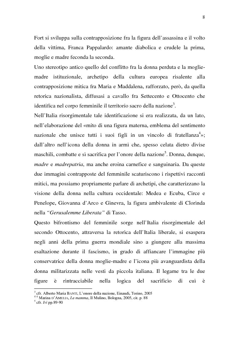 Anteprima della tesi: Rina Fort e il massacro di via san Gregorio: donne e violenza nell'Italia del dopoguerra, Pagina 4