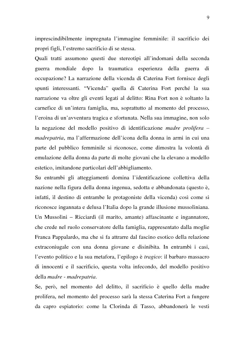 Anteprima della tesi: Rina Fort e il massacro di via san Gregorio: donne e violenza nell'Italia del dopoguerra, Pagina 5