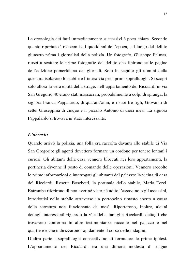 Anteprima della tesi: Rina Fort e il massacro di via san Gregorio: donne e violenza nell'Italia del dopoguerra, Pagina 9