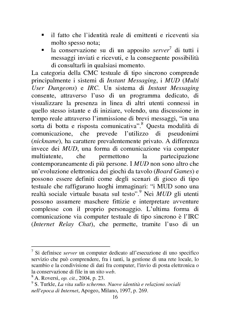 Anteprima della tesi: Weblog: diari senza lucchetti. Quando l'intimo diviene pubblico., Pagina 10