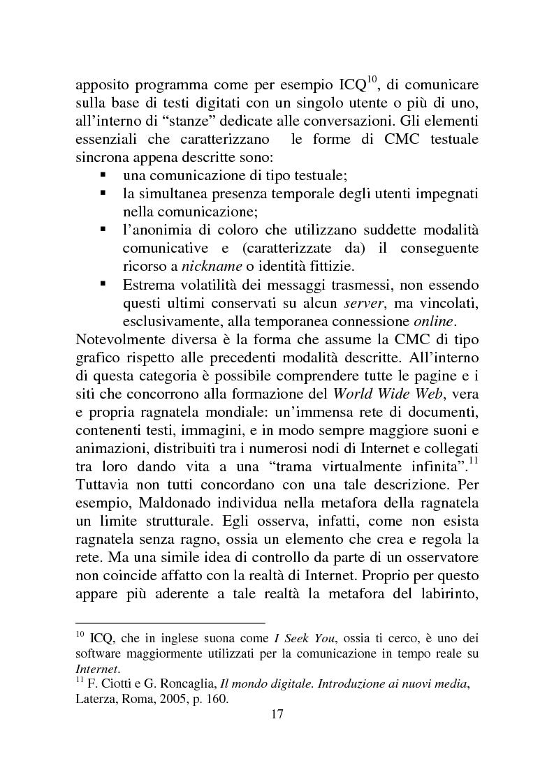 Anteprima della tesi: Weblog: diari senza lucchetti. Quando l'intimo diviene pubblico., Pagina 11