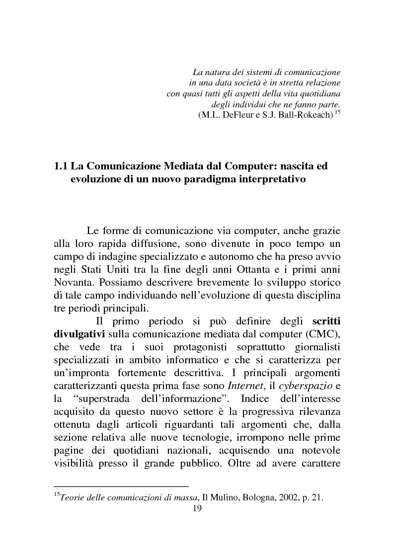 Anteprima della tesi: Weblog: diari senza lucchetti. Quando l'intimo diviene pubblico., Pagina 13