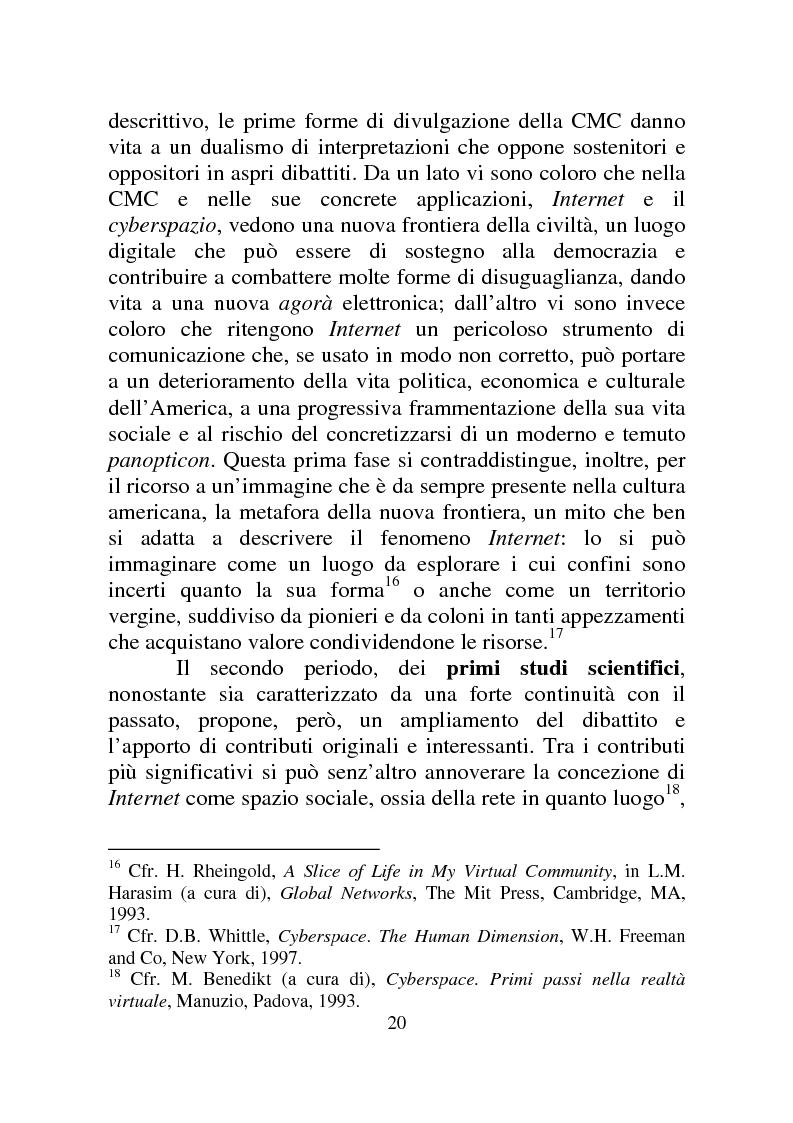 Anteprima della tesi: Weblog: diari senza lucchetti. Quando l'intimo diviene pubblico., Pagina 14