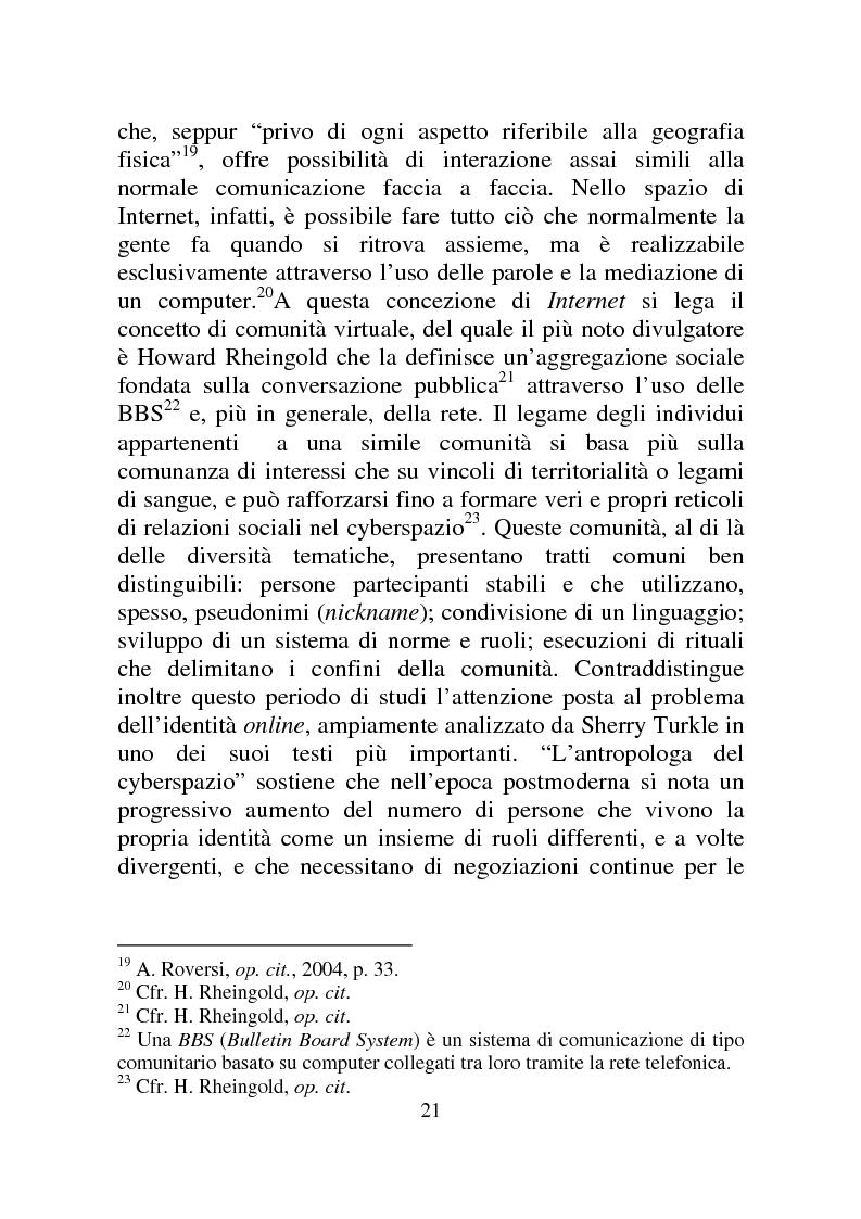 Anteprima della tesi: Weblog: diari senza lucchetti. Quando l'intimo diviene pubblico., Pagina 15