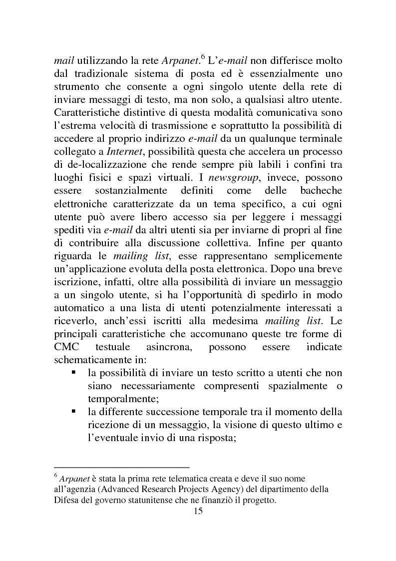 Anteprima della tesi: Weblog: diari senza lucchetti. Quando l'intimo diviene pubblico., Pagina 9