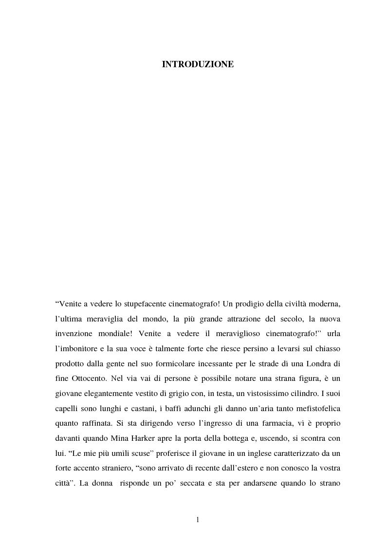 Anteprima della tesi: La condizione vampirica del cinema, Pagina 1