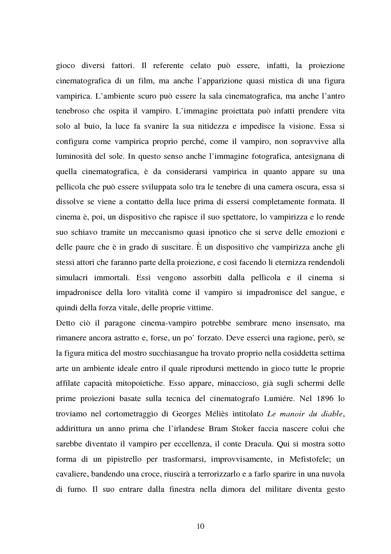 Anteprima della tesi: La condizione vampirica del cinema, Pagina 10