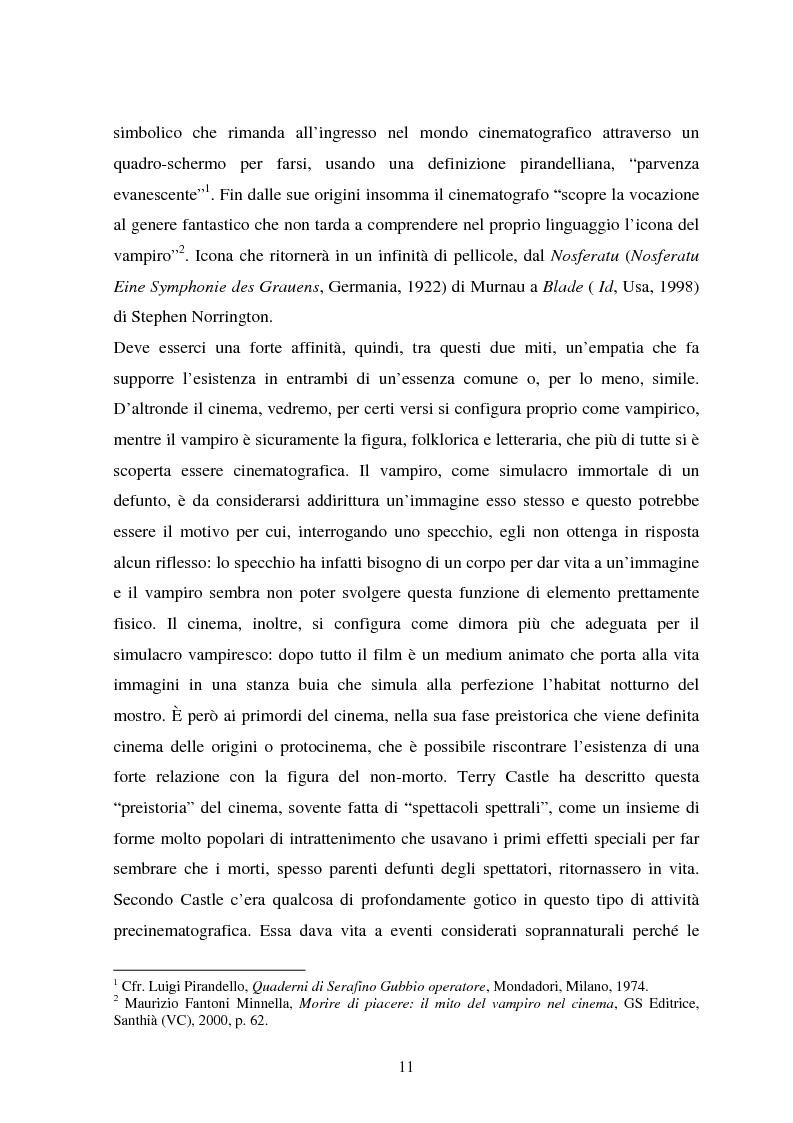 Anteprima della tesi: La condizione vampirica del cinema, Pagina 11