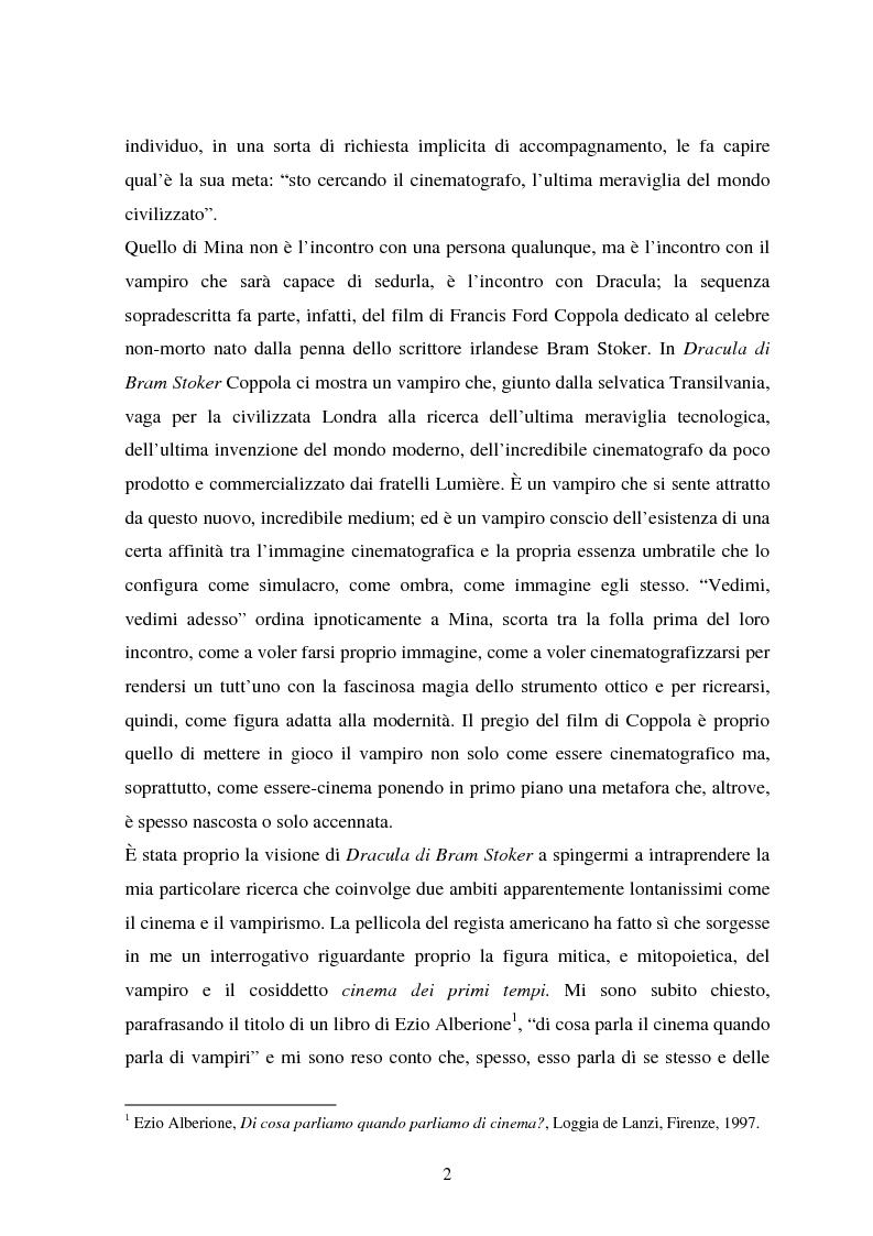 Anteprima della tesi: La condizione vampirica del cinema, Pagina 2