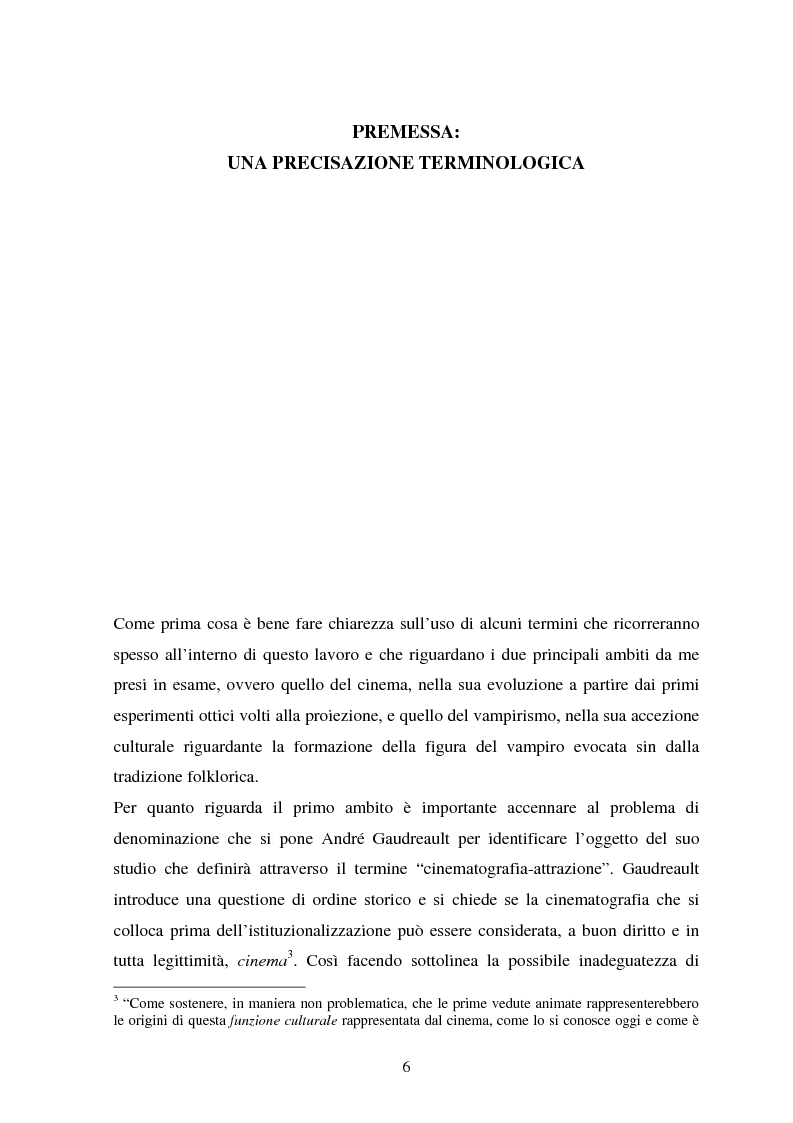 Anteprima della tesi: La condizione vampirica del cinema, Pagina 6