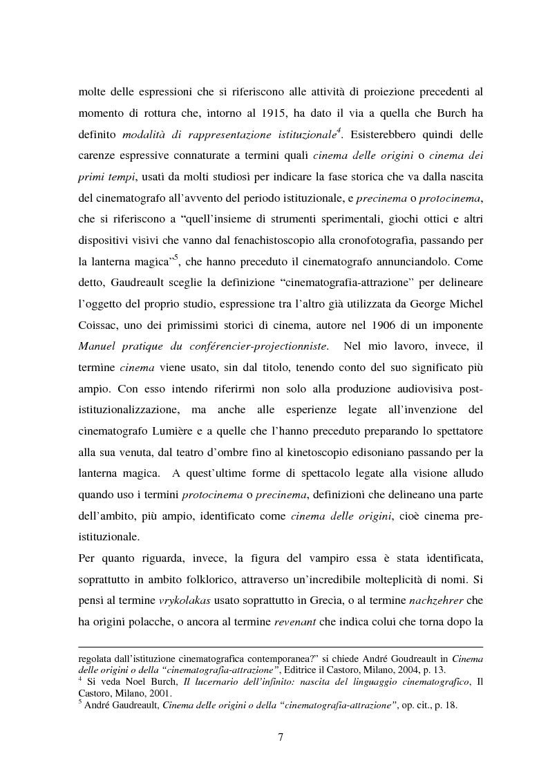 Anteprima della tesi: La condizione vampirica del cinema, Pagina 7