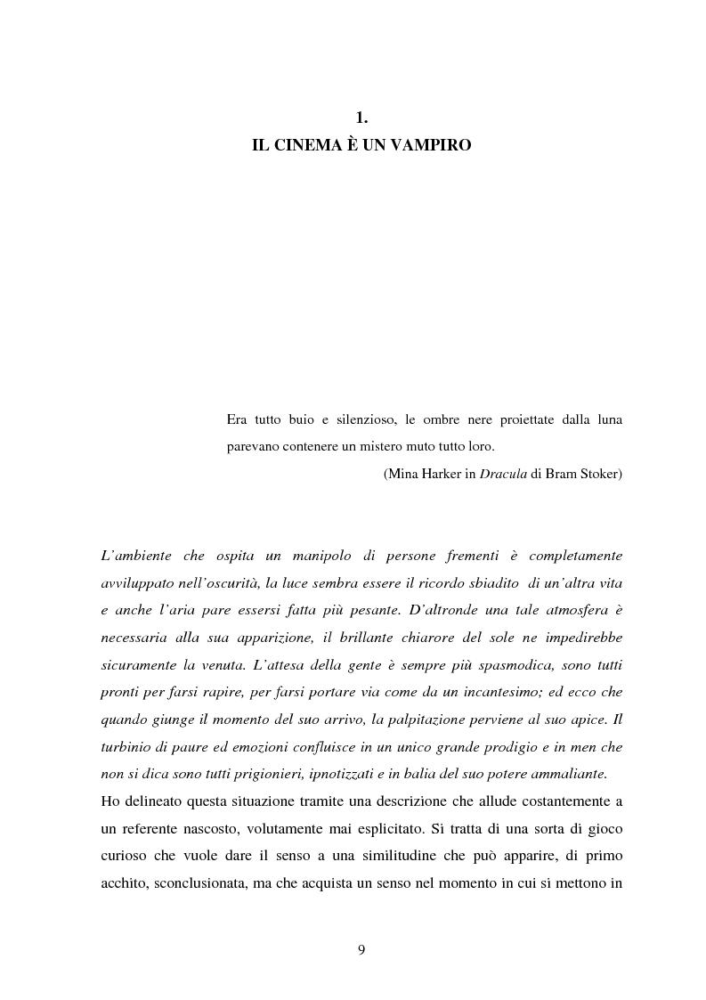 Anteprima della tesi: La condizione vampirica del cinema, Pagina 9