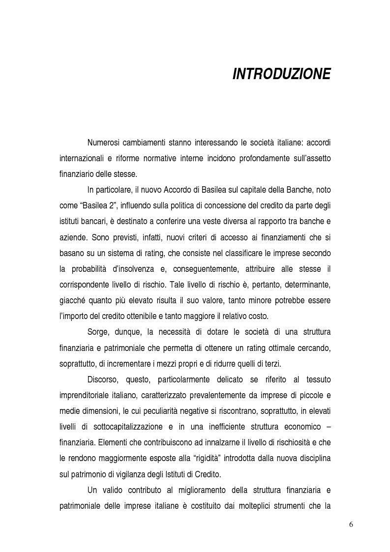 Anteprima della tesi: Basilea 2, rischi e opportunità per l'imprese italiane. Il contributo positivo della riforma societaria., Pagina 1