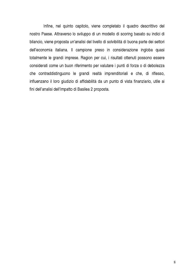 Anteprima della tesi: Basilea 2, rischi e opportunità per l'imprese italiane. Il contributo positivo della riforma societaria., Pagina 3