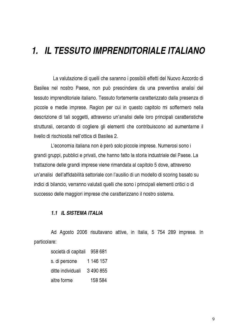 Anteprima della tesi: Basilea 2, rischi e opportunità per l'imprese italiane. Il contributo positivo della riforma societaria., Pagina 4