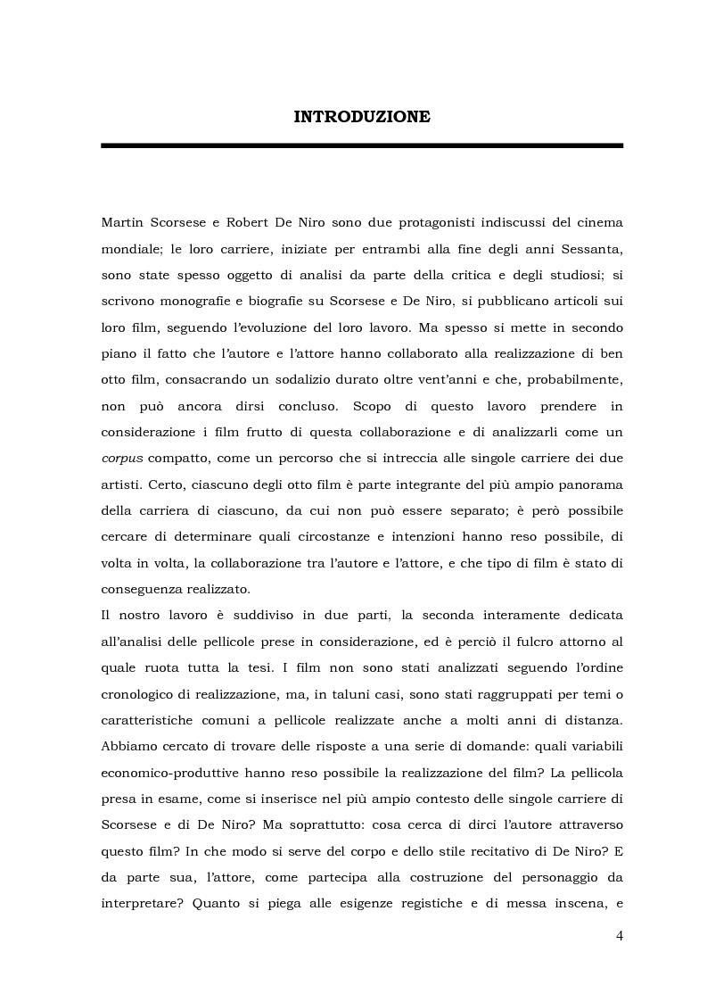 Anteprima della tesi: L'autore e il suo doppio: la collaborazione tra Martin Scorsese e Robert De Niro, Pagina 1
