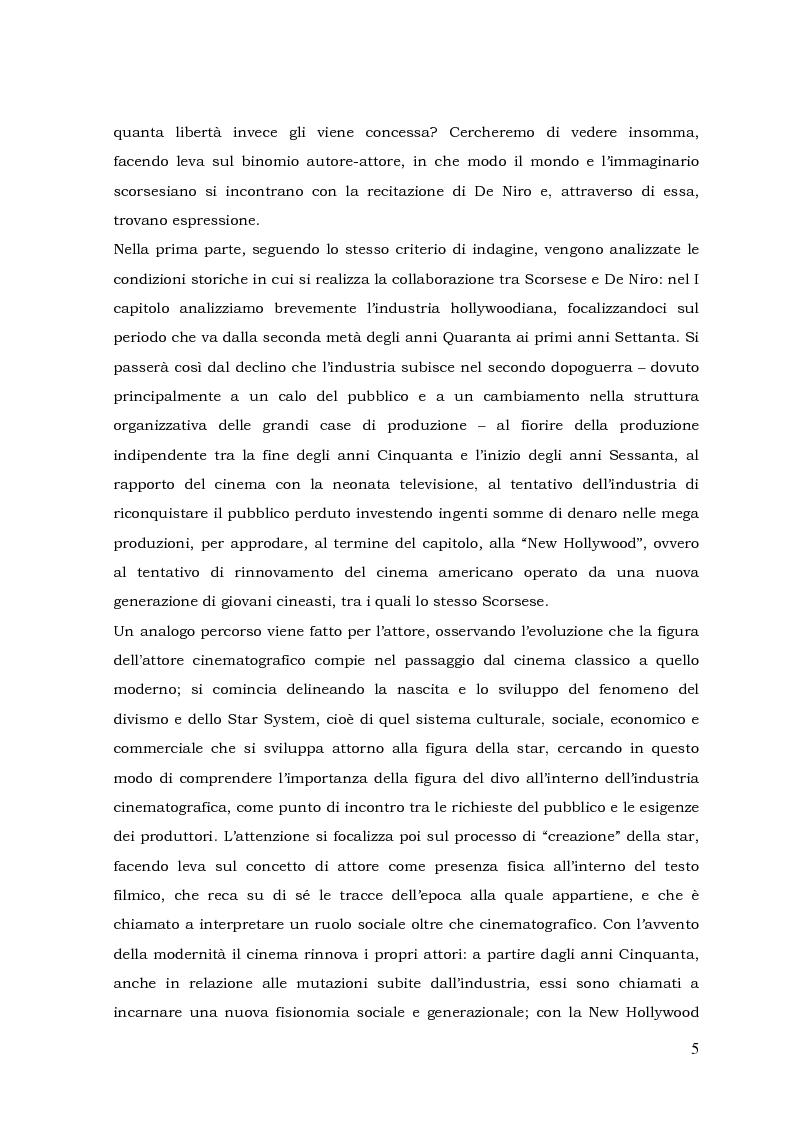Anteprima della tesi: L'autore e il suo doppio: la collaborazione tra Martin Scorsese e Robert De Niro, Pagina 2