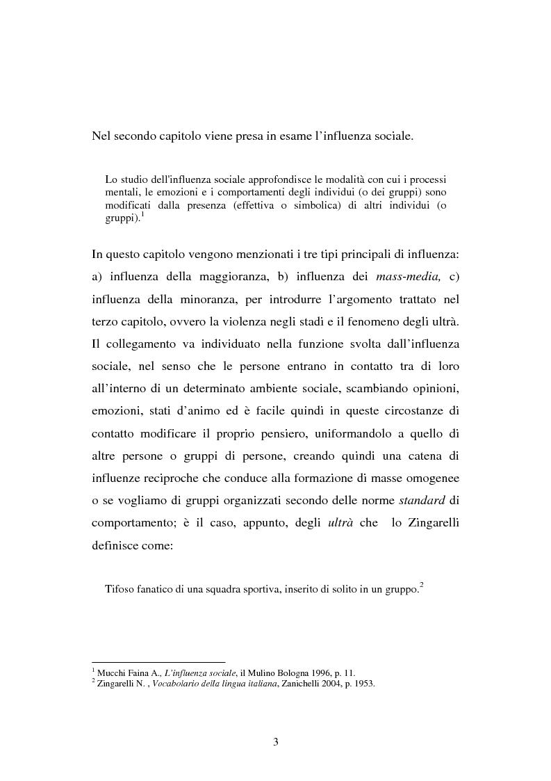 Anteprima della tesi: Aggressività e violenza negli stadi: il fenomeno degli ultrà, Pagina 2